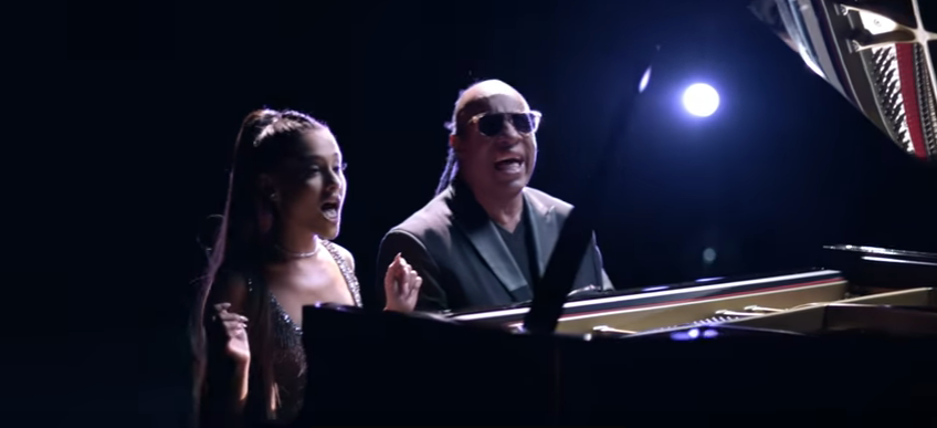 "Animation is the name of the game in the new Ariana Grande/Stevie Wonder video ""Faith"". WATCH.."