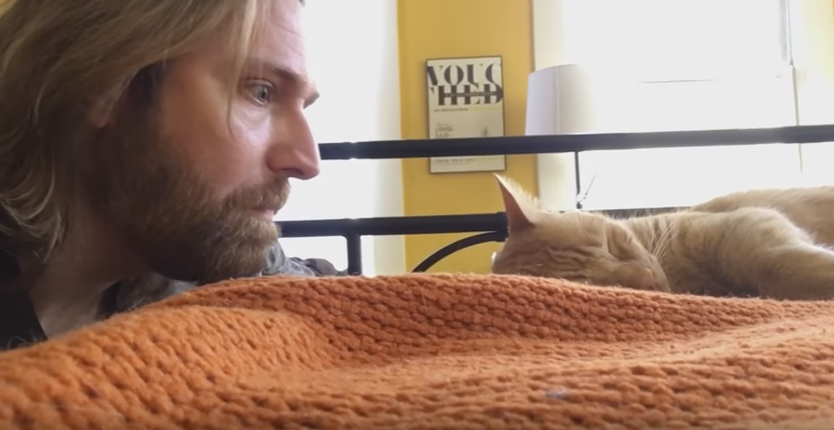WATCH: Man gets revenge on cat that wakes him up.