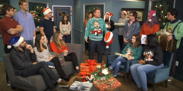 James Cordon hosts his staff's Secret Santa gift exchange..what could go wrong?!