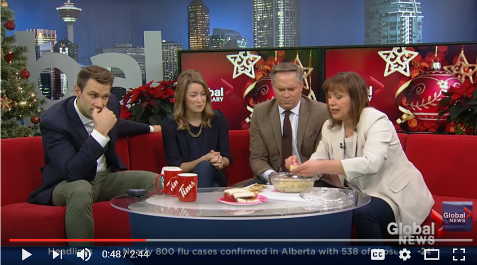Our Friends At Global News In Calgary Had A Hilarious Christmas Fail When Staff Brought In Baked Goods - WATCH