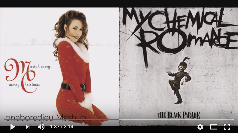 "90's Kids Rejoice!! This Mashup Of Mariah ""All I Want For Christmas"" & ""Welcome To The Black Parade"" Will Tickle Your Old School Feels - LISTEN"