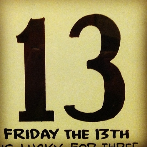 4 stats about Friday the 13th and superstitions...