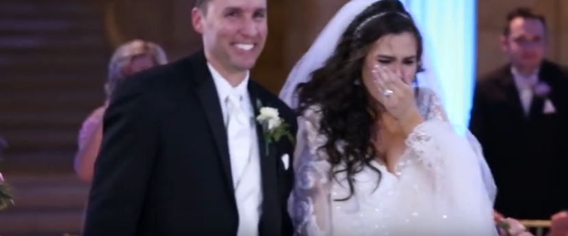 A really upset bride thinks DJ ruined first dance, then screams when she looks on the stage..