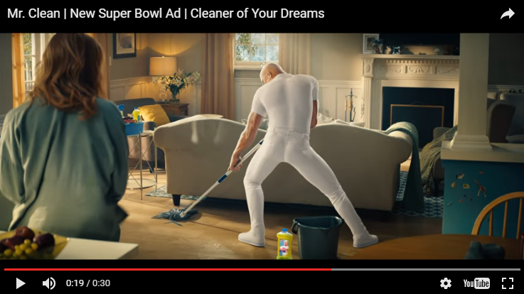 WATCH: Mr. Clean? or Mr. Sexy?! You decide after seeing this new Super Bowl commercial..