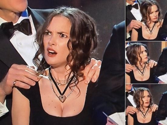 WATCH:Winona Ryder wins the interwebs for her facial expressions at the SAG Awards
