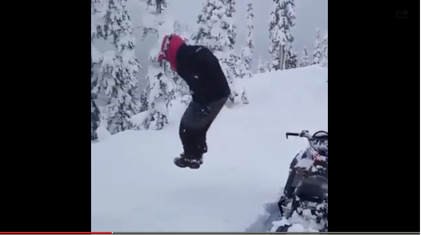 Guy Jumps Into 6 Foot Snowbank & Hilariously Disappears - WATCH
