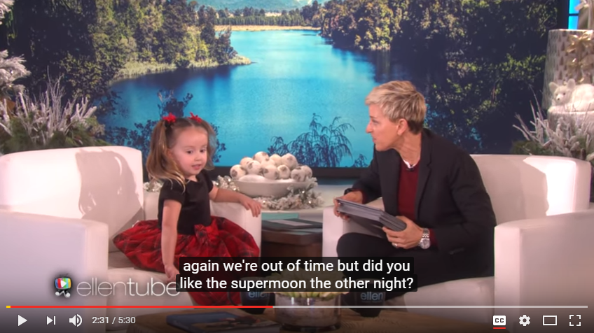 Wonderfully Smart Little Brielle Is Back To Teach Ellen About Space & Animals - WATCH