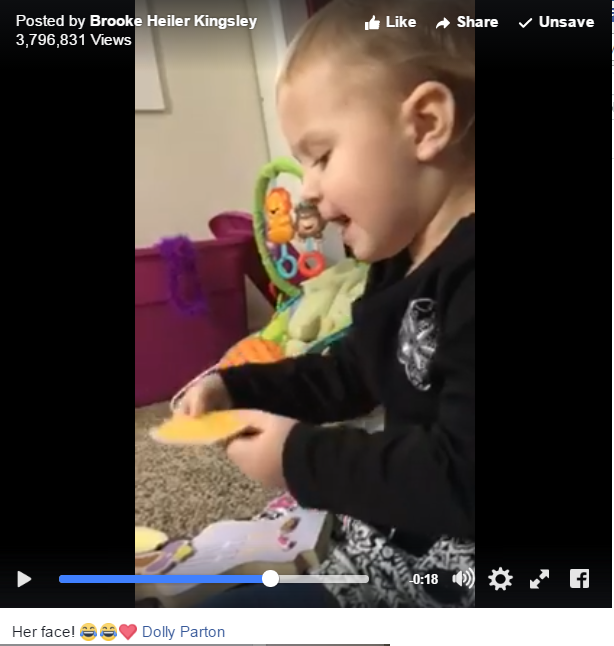 "Toddler Gets Caught Belting Out Dolly Parton's ""Jolene"" - WATCH"