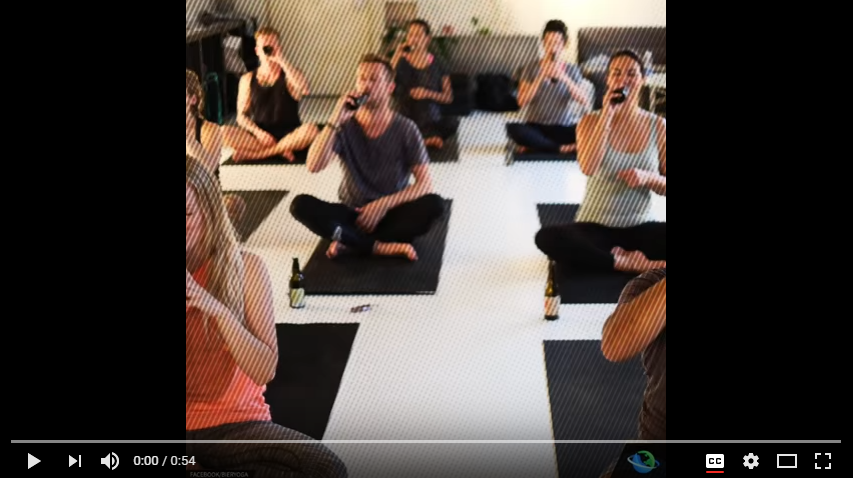 You're Welcome: This New Trend Pairs Up Beer & Yoga - WATCH