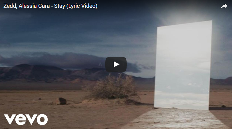 "Lyric video for Zedd & Alessia Cara ""Stay"". WATCH:"