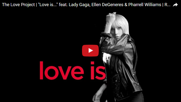 "Lady Gaga debuted ""The Love Project"" ad throughout the Oscars. WATCH:"