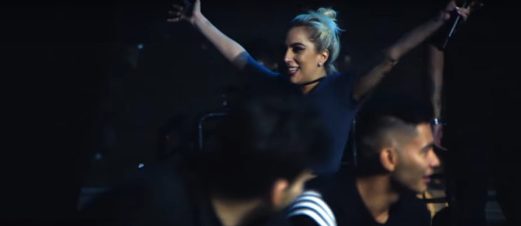 Lady Gaga shares a new behind the scenes look at this Sunday's Superbowl half-time show. WATCH