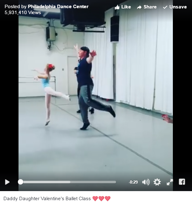 The Philadelphia Dance Center Held A Father Daughter Ballet Class You Just Have To See - WATCH