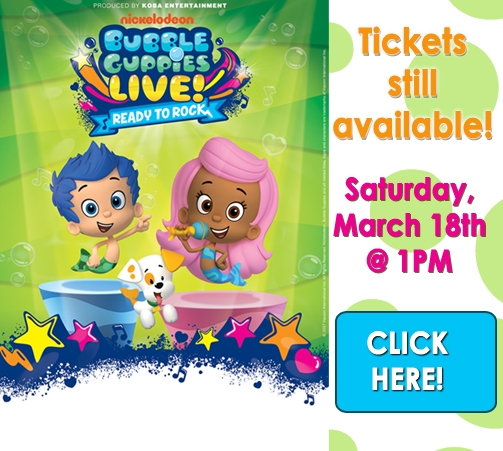 Bubble Guppies are rolling into town!