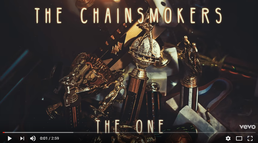 "Brand new music from The Chainsmokers! The song is called ""The One"". LISTEN"