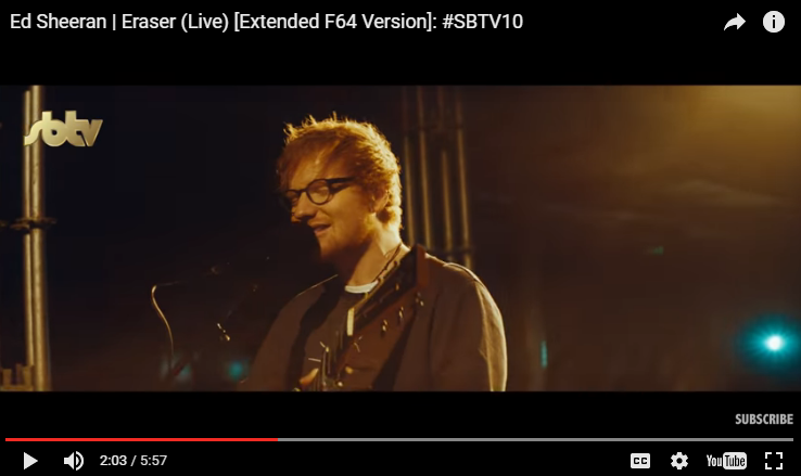 "Ed Sheeran drops a brand new video featuring a live performance of his new song ""Eraser"". WATCH/LISTEN.."