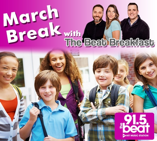 We want your kids to co-host The Beat Breakfast with us during March Break!