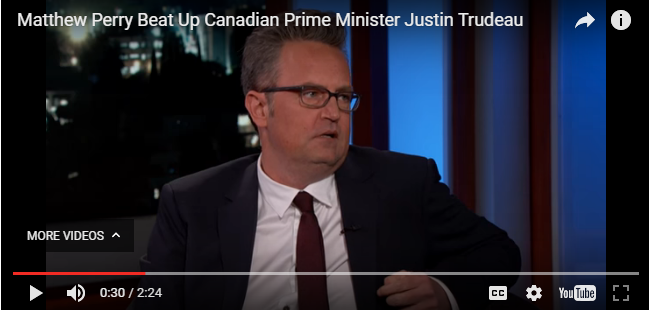 Matthew Perry BEAT UP Justin Trudeau once -WATCH-
