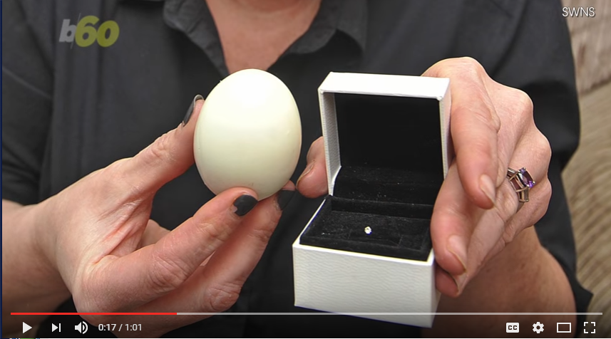 Real Or Fake? Woman Finds Diamond In Her Hard Boiled Egg - WATCH