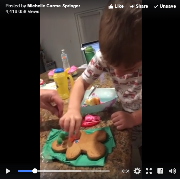 Little Boy Makes Sure He Includes Genitals While Decorating Cookies - WATCH