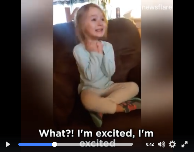 Little Girl Has The BEST Reaction When Mom Surprises Her By Seeing Beauty And The Beast - WATCH