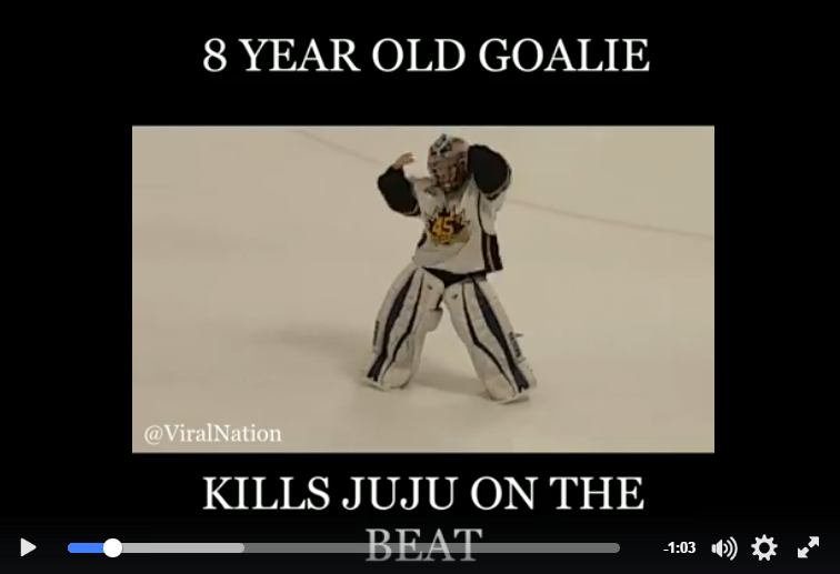 8 Year Old Brampton Boy Goes Viral While Dancing On The Ice In His Goalie Gear - WATCH