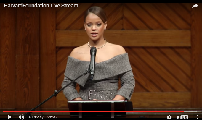 Rihanna's Harvard Humanitarian of the Year Speech -WATCH-
