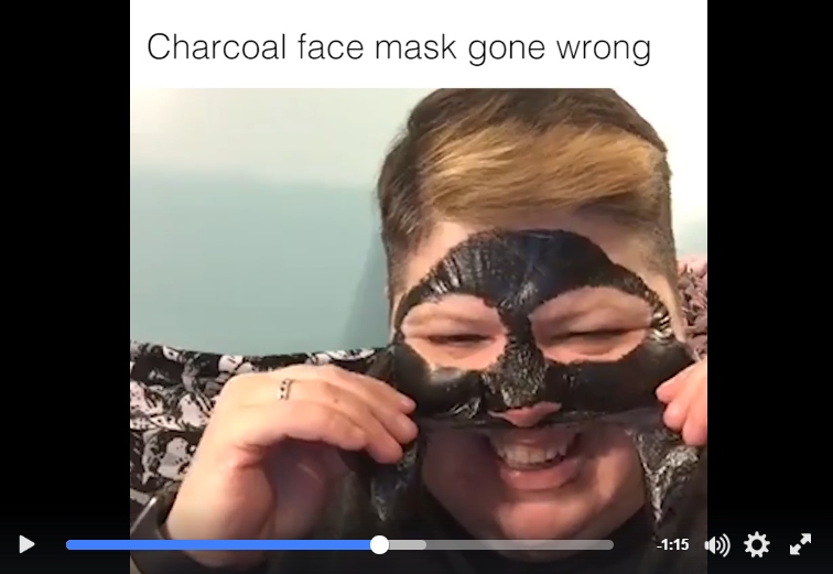 A Woman Removing A Charcoal Face Mask Is The Funniest Thing You'll See Today - WATCH