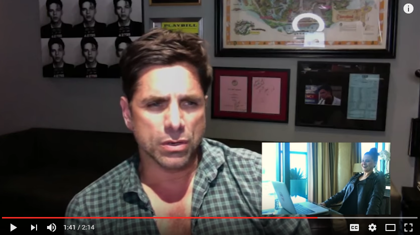 John Stamos helps a guy propose to his wife. WATCH