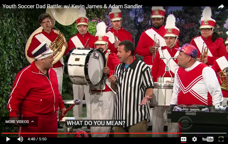 "James Corden & Kevin James get some help from Adam Sandler in ""Angry Soccer Dads"" karaoke battle. WATCH:"