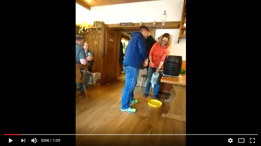Friends Cannot Contain Laughter After Buddy Screws Up Keg Tapping, Twice - WATCH