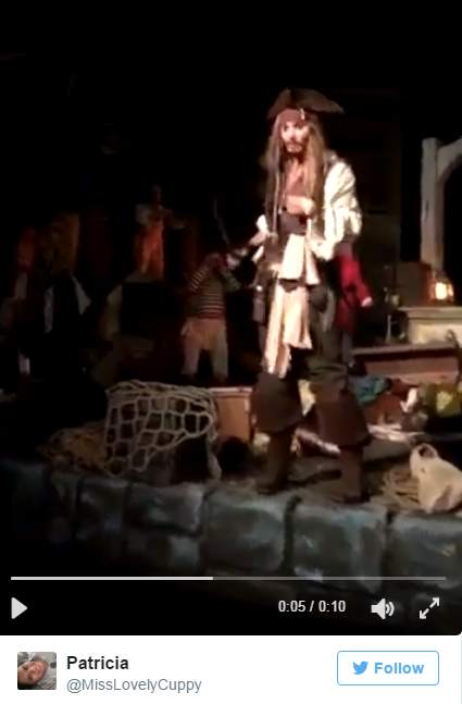 Johnny Depp Surprised People Riding The 'Pirate Of The Caribbean' Ride At Disney - WATCH