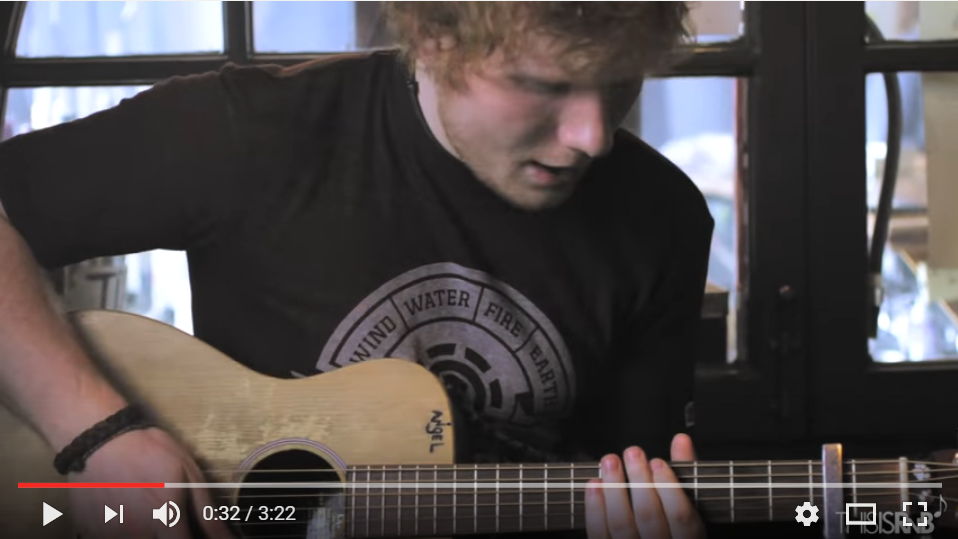 Ed Sheeran Covers Genuine's 'Pony' In Acoustic Video - WATCH