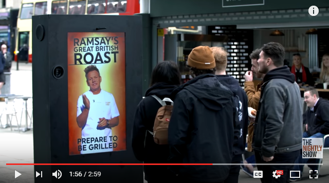 Gordan Ramsay Roasts Random People Walking Down The Street From Inside Bus Terminal - WATCH