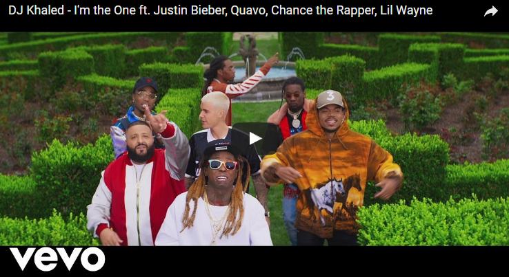 Dj Khaled, Justin Bieber, Quavo, Chance the Rapper & Lil Wayne make the world's most bizarre boy band