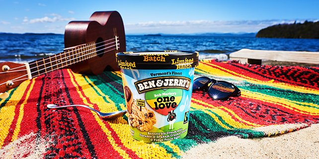 Ben & Jerry's pay tribute to BOB MARLEY in the best way!