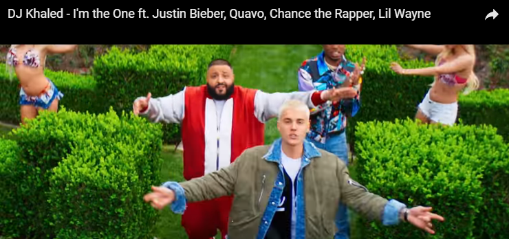 "DJ Khaled releases new video for ""I'm The One"" with Justin Bieber, Chance The Rapper, Lil' Wayne and Quavo. WATCH:"