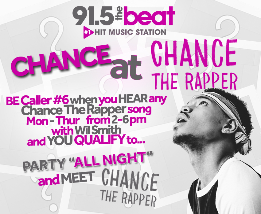 LISTEN 2 WIN - Meet CHANCE The RAPPER & Win TICKETS to his SHOW!