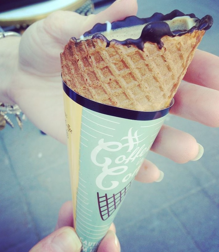You MUST try the Coffee Cone!