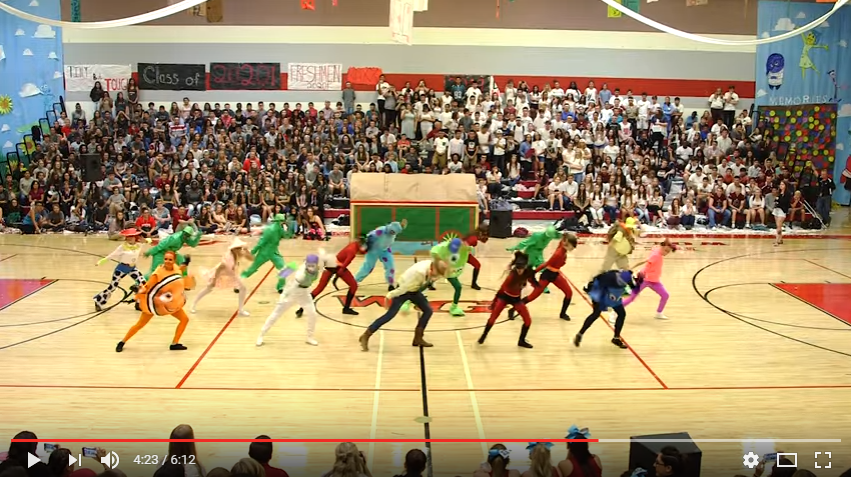High School Dance Team Performs Amazing 'Pixar' Inspired Homecoming Half Time Show - WATCH