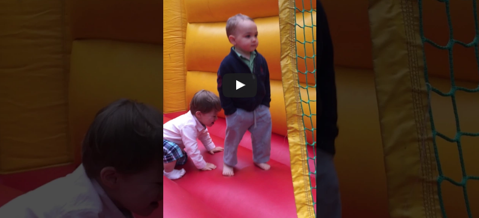 This kid is all business inside a bouncy castle [WATCH]