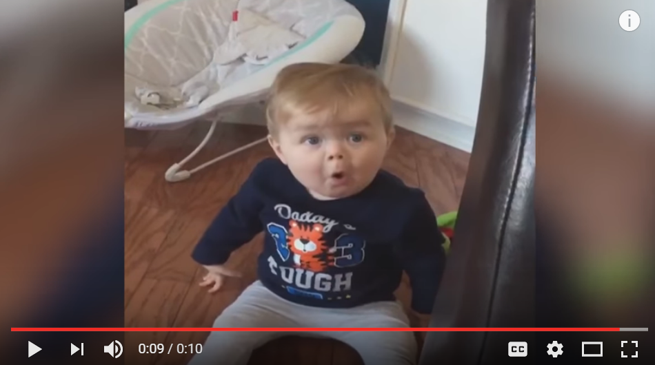 Baby Has The BEST Reaction When His Mom Tells Him He's Playing With A Dog Toy - WATCH