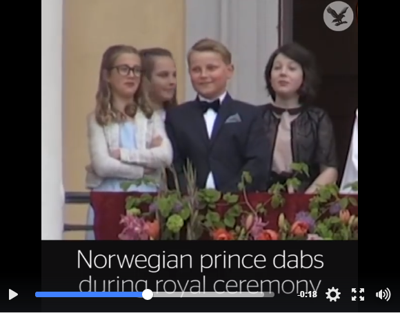 Love This! Norwegian Prince Flashes Peace Sign & Dabs During Ceremony - WATCH