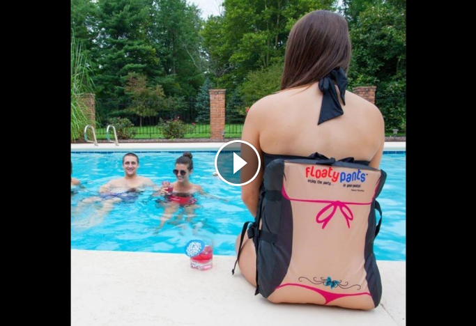 New 'Floaty Pants' Will Change The Way You Pool Party This Summer - WATCH