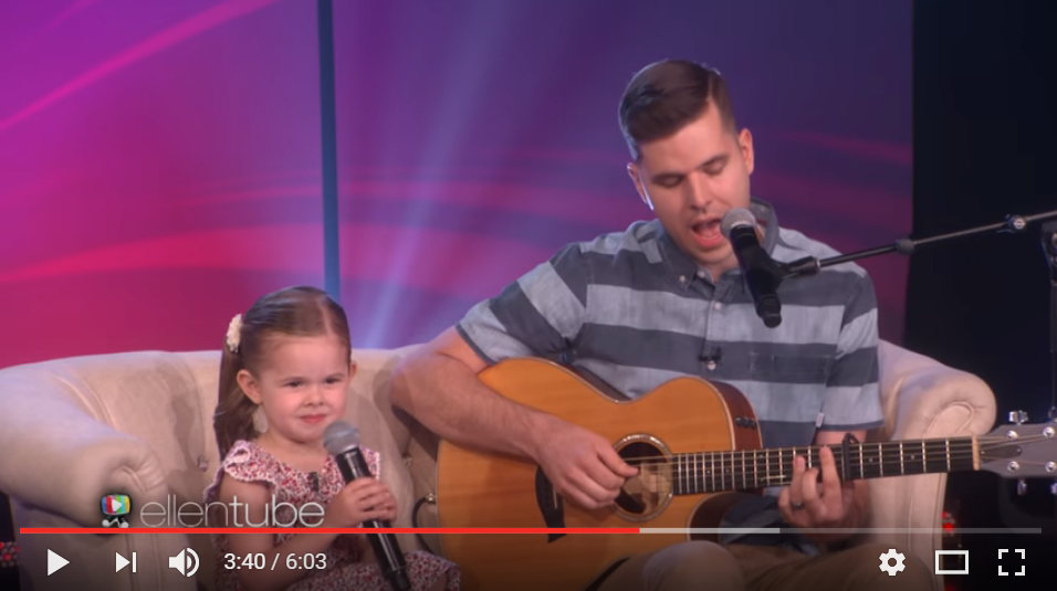 4 Year Old Claire Joins Ellen Again, This Time To Sing 'You'll Be In My Heart' And It Will Melt Yours - WATCH