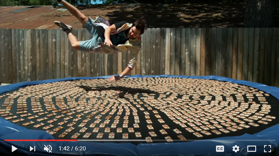 Would You Jump On A Trampoline Covered with 1000 Mouse Traps? - WATCH