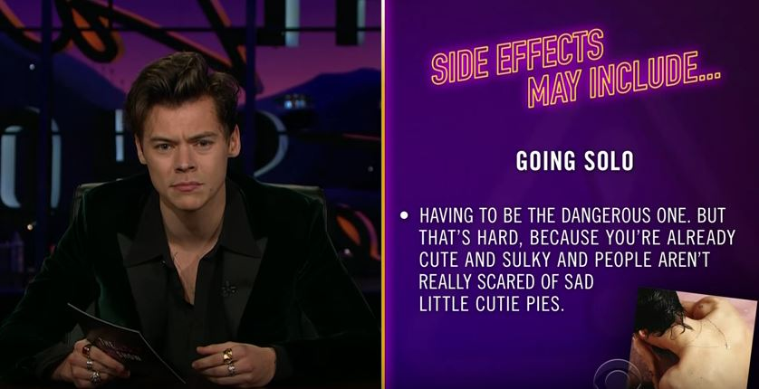 The Entire Harry Styles Week - On The Late Late Show.
