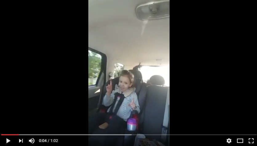 "My 3 year old Madison gets down to Hedley ""One Life"" on her way to school. WATCH"