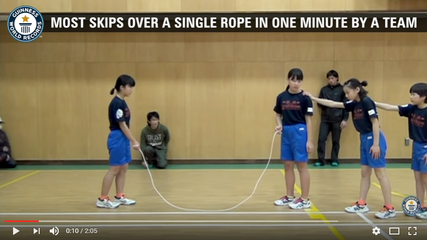 Elementary students in Japan set a world record for skipping rope. WATCH