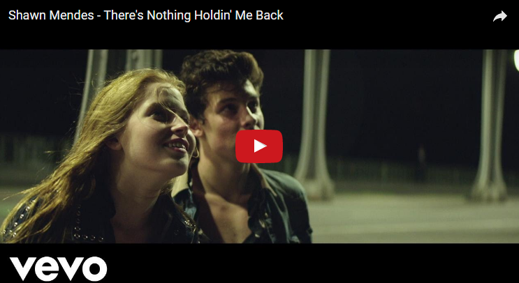 "It's finally here! The new music video for Shawn Mendes ""There's No Holdin' Me Back"". WATCH"